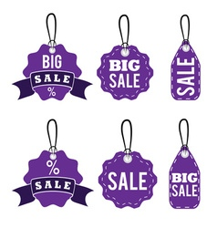 set of sale tags design template vector image vector image