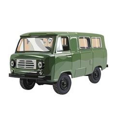Soviet retro minivan uaz vector