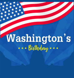 Washingtons birthday background or banner graphic vector