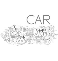 What can you do at car shows text word cloud vector