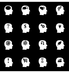 White thoughts icon set vector
