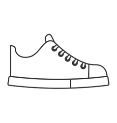 Shoes young fashion isolated icon vector