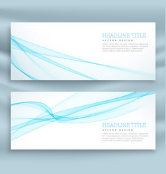 Stylish business banners template in blue theme vector