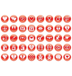 Day of valentine icons vector