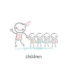 Children and adults vector