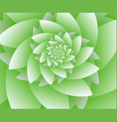 Abstract green floral background optical vector