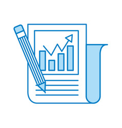Statistical report with pencil vector
