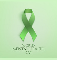World mental health day background vector