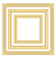 3 golden frames vector image