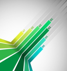 Abstract design element with green lines vector image