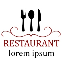 Art restaurant icon for menu vector