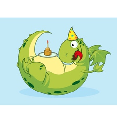 Birthday of a dragon vector