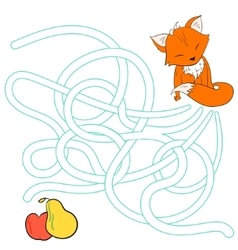 Layout for game labyrinth find a way fox vector