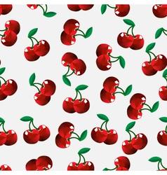 Seamless cherry background vector