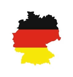 Map of germany with flag of germany icon vector
