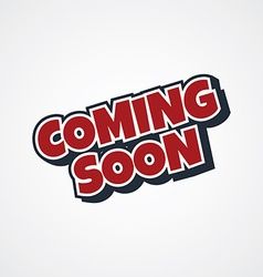 Coming soon theme vector