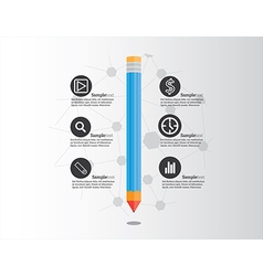 Creative pencil infographic vector