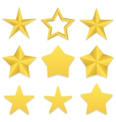 Five point stars collection vector
