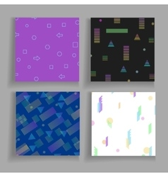Abstrct geometry chaotic backgrounds set vector