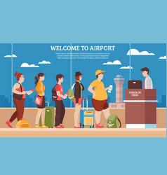 Airport queue vector