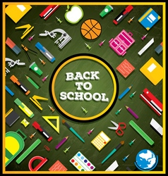 Back to school School supplies vector image vector image