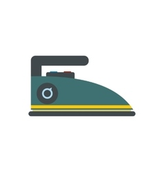 Blue iron flat vector image vector image