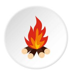 bonfire icon circle vector image vector image