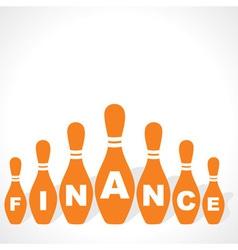 Bowling pins make finance word vector