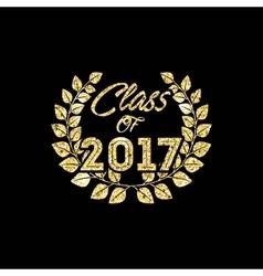 Class of 2017 card vector