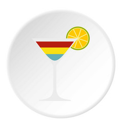Cocktail icon circle vector