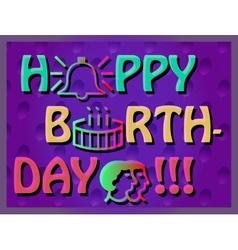 Colorful birthday card vector