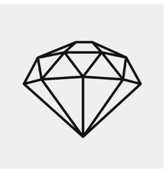 Diamond icon expensive gift vector
