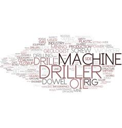 Driller word cloud concept vector