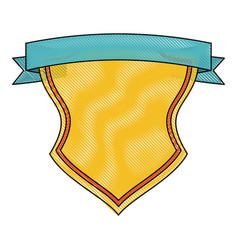 emblem with ribbon icon image vector image