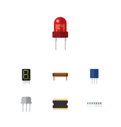 Flat icon electronics set of bobbin recipient vector