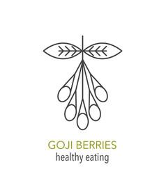 goji berries line icon vector image