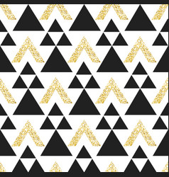 Gold geometric triangle background abstract vector
