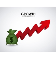 Growth money vector