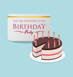 Happy birthday card invitation event party vector