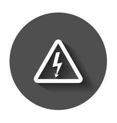 High voltage danger sign icon danger electricity vector
