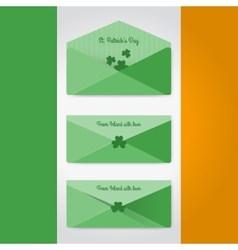 Irish envelopes in material style vector image