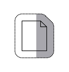 Monochrome contour sticker of paper sheet icon vector
