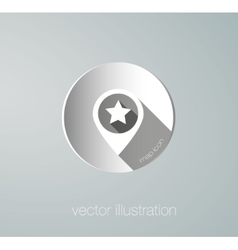 Paper map mark icon vector