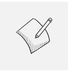 Pencil and document sketch icon vector image