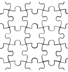 Puzzle jigsaw seamless pattern vector