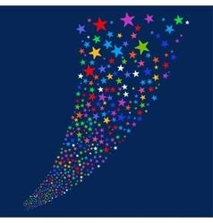 Salute star stream vector