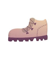 Sand trekking boot vector