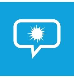 Starburst message icon vector
