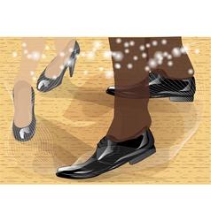 Tango dancers feet vector