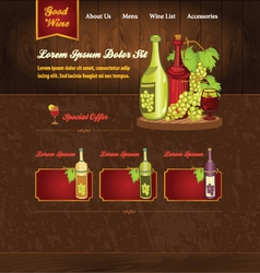 Template for wine website vector image vector image